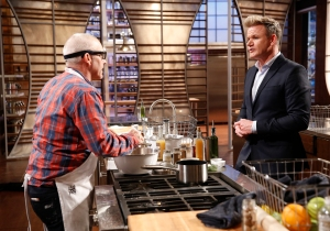 "MASTERCHEF: L-R: Contestant Stephen and Judge Gordon Ramsay in the all-new ""Top 22 Compete"" episode of MASTERCHEF airing Wednesday, May 27 (8:00-9:00 PM ET/PT) on FOX. Greg Gayne / FOX. © 2015 FOX Broadcasting Co."